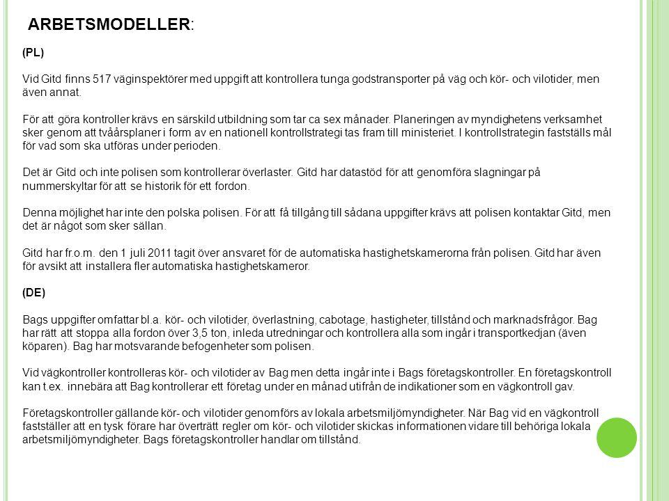 ARBETSMODELLER: (PL)