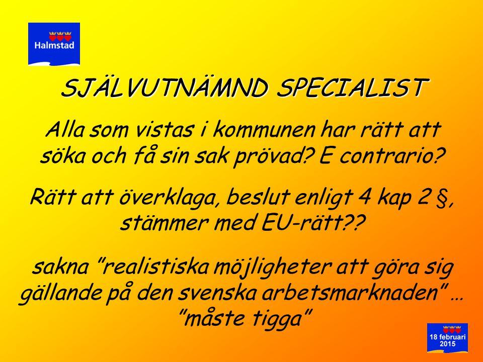 SJÄLVUTNÄMND SPECIALIST