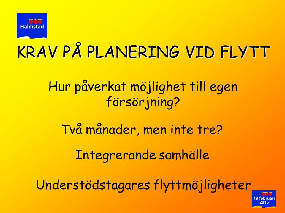 KRAV PÅ PLANERING VID FLYTT