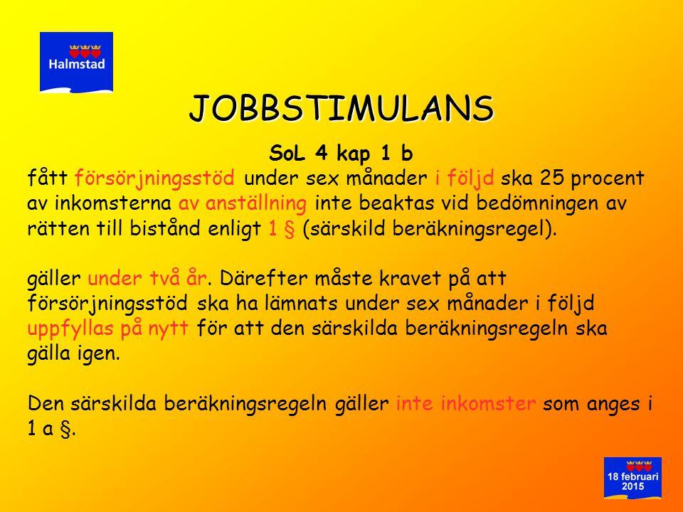 JOBBSTIMULANS SoL 4 kap 1 b