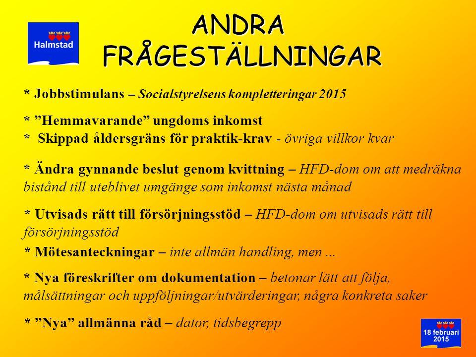 ANDRA FRÅGESTÄLLNINGAR