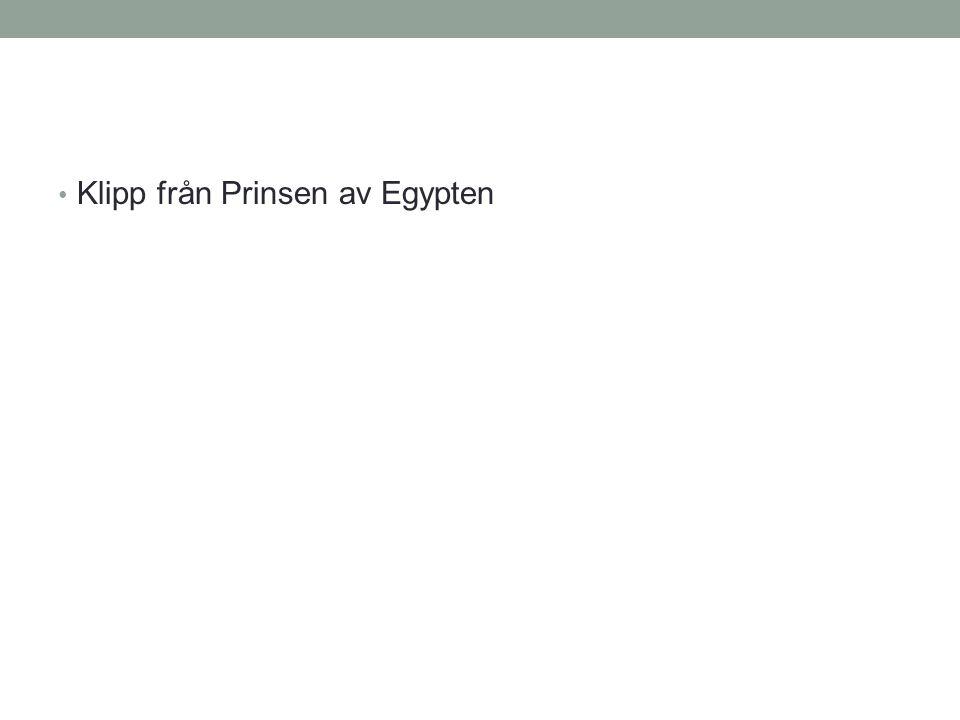 Klipp från Prinsen av Egypten