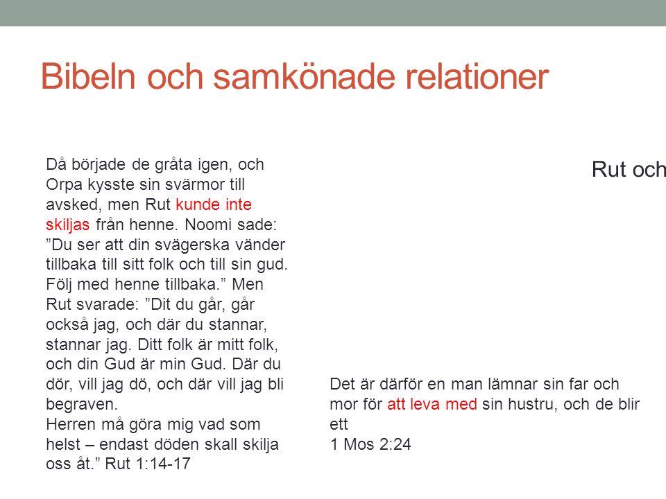 Bibeln och samkönade relationer