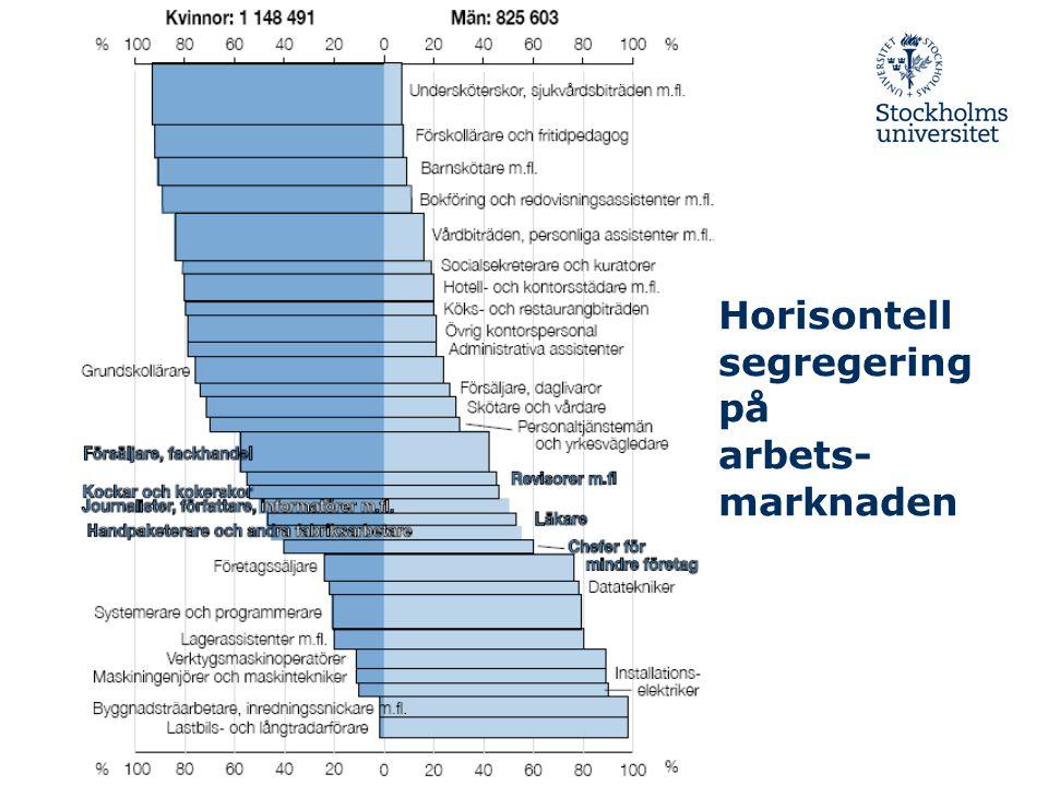Horisontell segregering på arbets-marknaden
