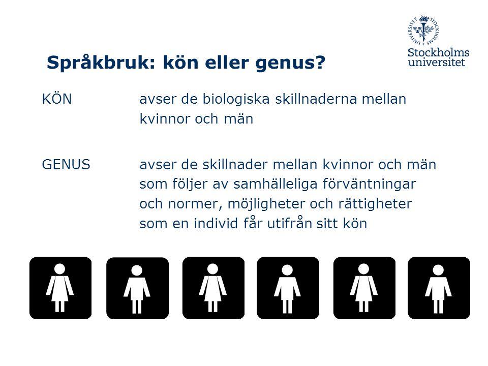 Språkbruk: kön eller genus