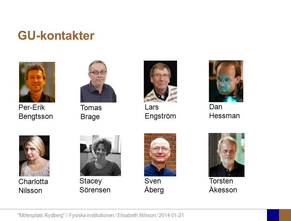 GU-kontakter Tomas Brage Per-Erik Bengtsson Lars Engström Dan Hessman