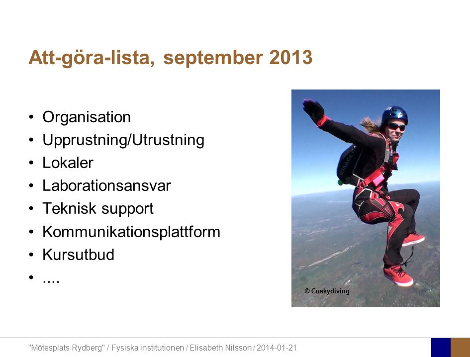 Att-göra-lista, september 2013
