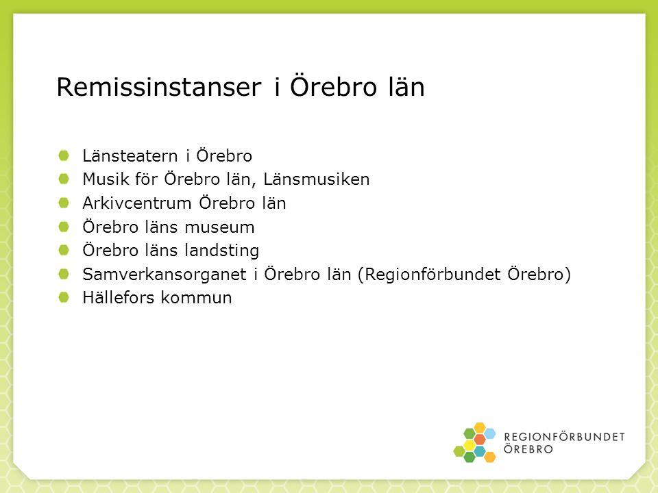 Remissinstanser i Örebro län