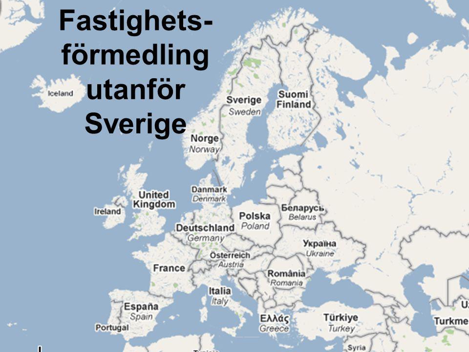 Fastighets-förmedling utanför Sverige