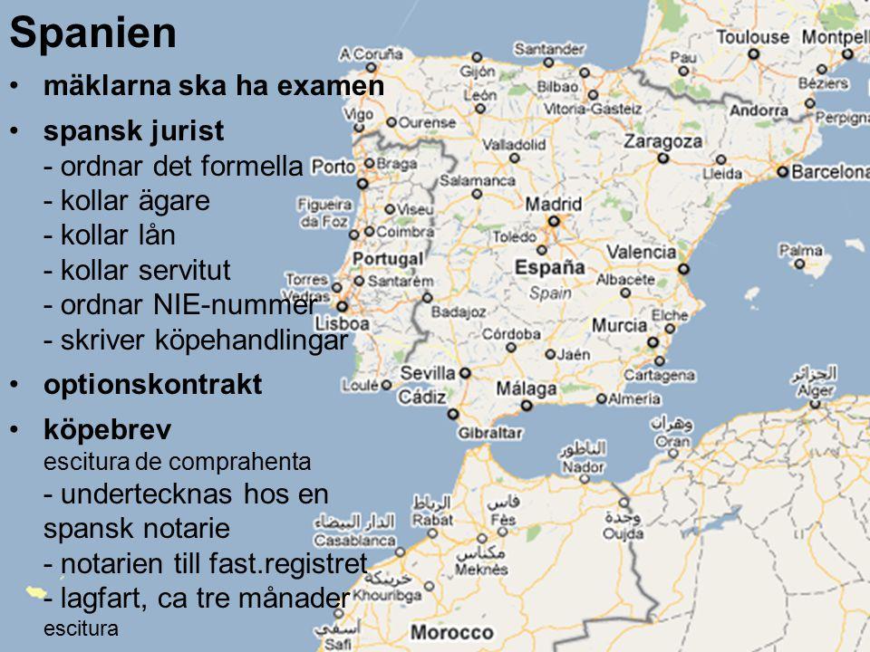 Spanien mäklarna ska ha examen