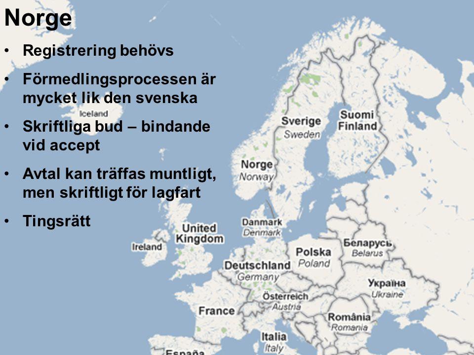 Norge Registrering behövs