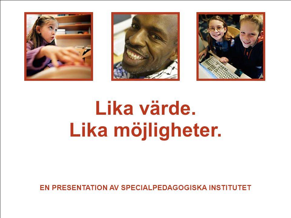 EN PRESENTATION AV SPECIALPEDAGOGISKA INSTITUTET