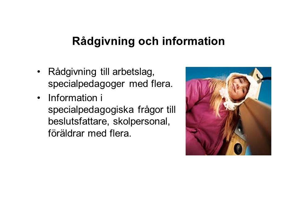 Rådgivning och information