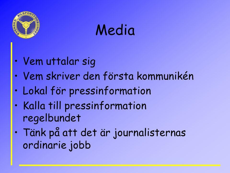 Media Vem uttalar sig Vem skriver den första kommunikén