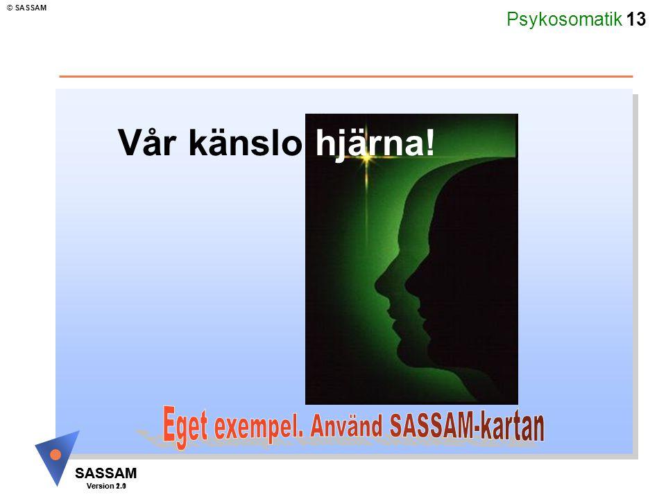 Eget exempel. Använd SASSAM-kartan