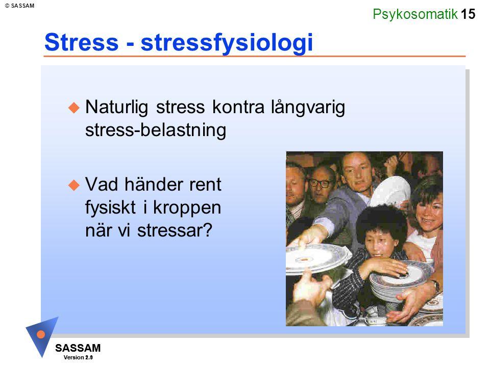 Stress - stressfysiologi