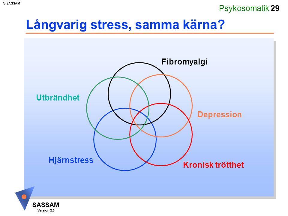 Långvarig stress, samma kärna