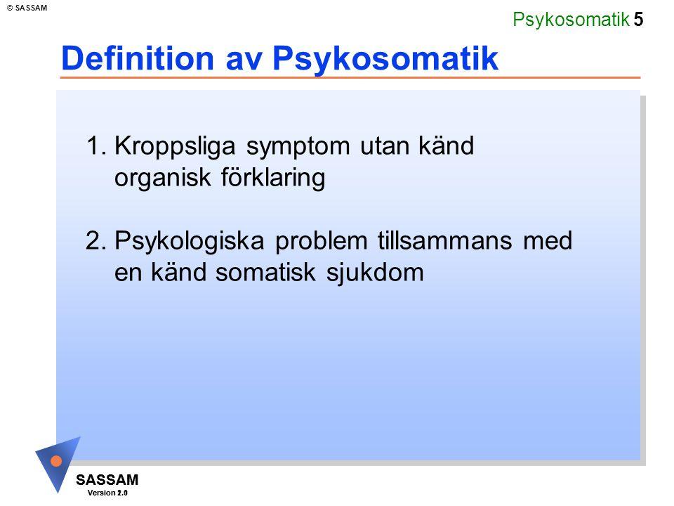 Definition av Psykosomatik