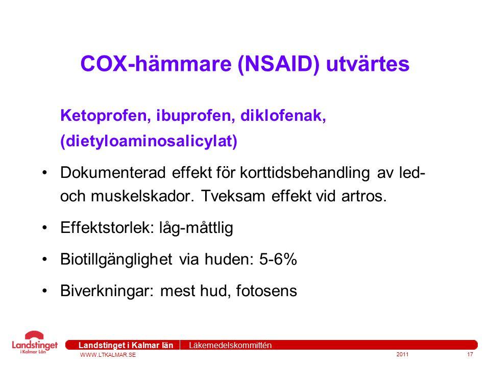 COX-hämmare (NSAID) utvärtes