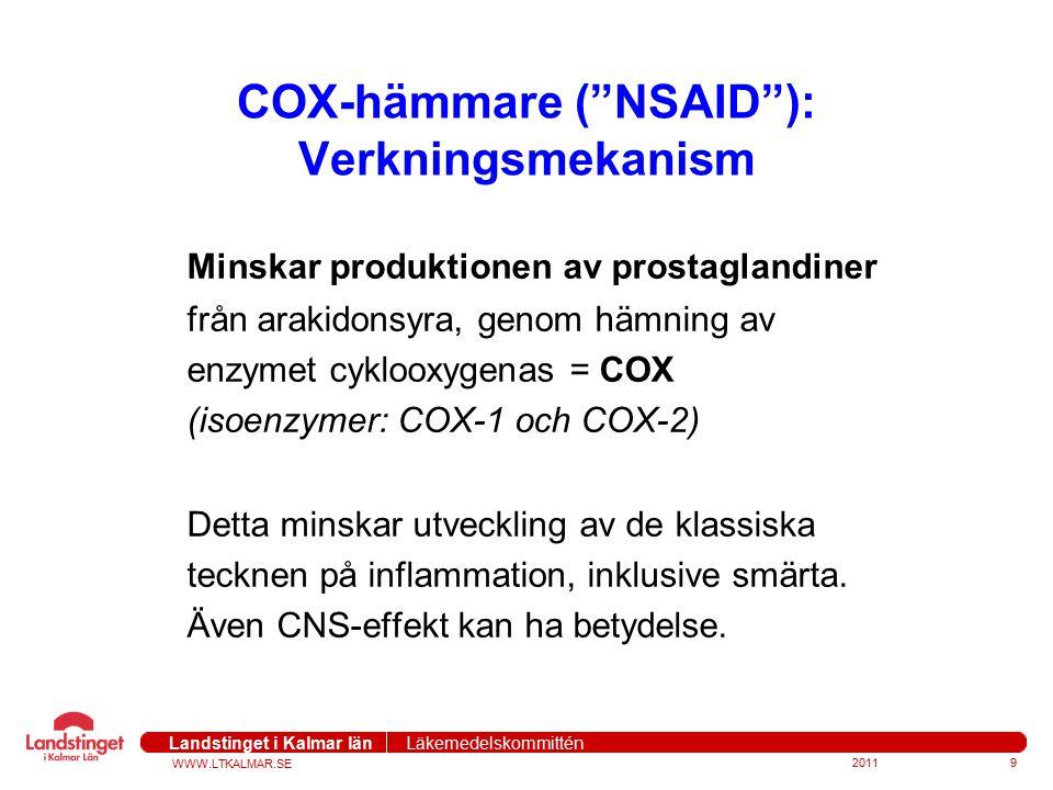 COX-hämmare ( NSAID ): Verkningsmekanism
