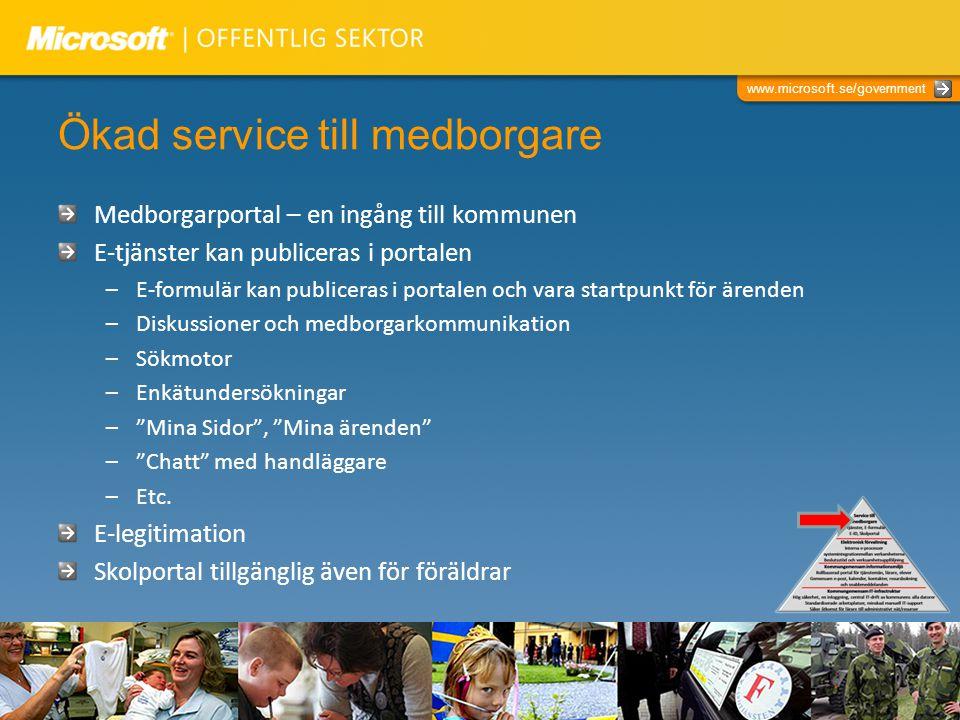 Ökad service till medborgare