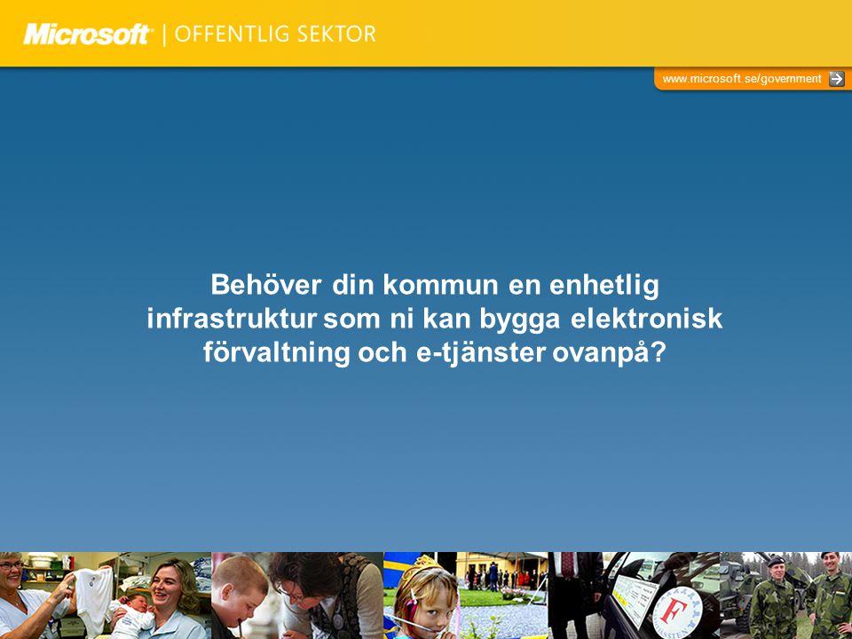 Behöver din kommun en enhetlig infrastruktur som ni kan bygga elektronisk förvaltning och e-tjänster ovanpå