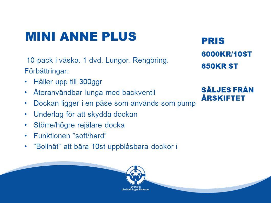 Mini anne plus Pris 10-pack i väska. 1 dvd. Lungor. Rengöring.