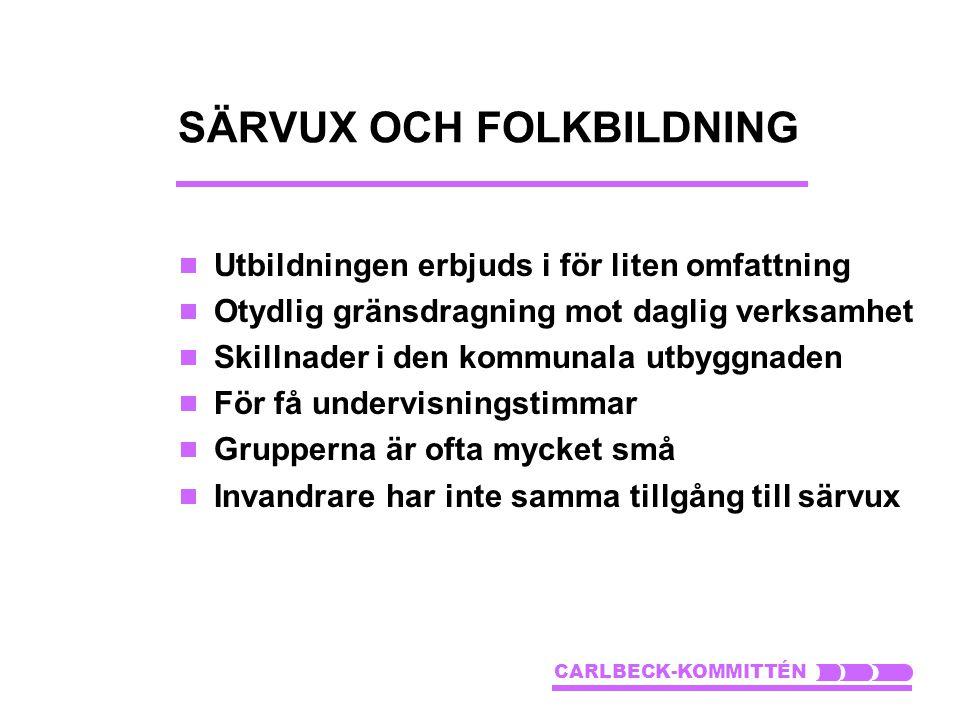 SÄRVUX OCH FOLKBILDNING