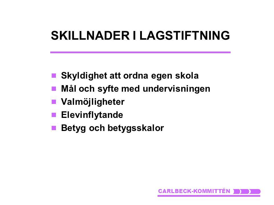 SKILLNADER I LAGSTIFTNING