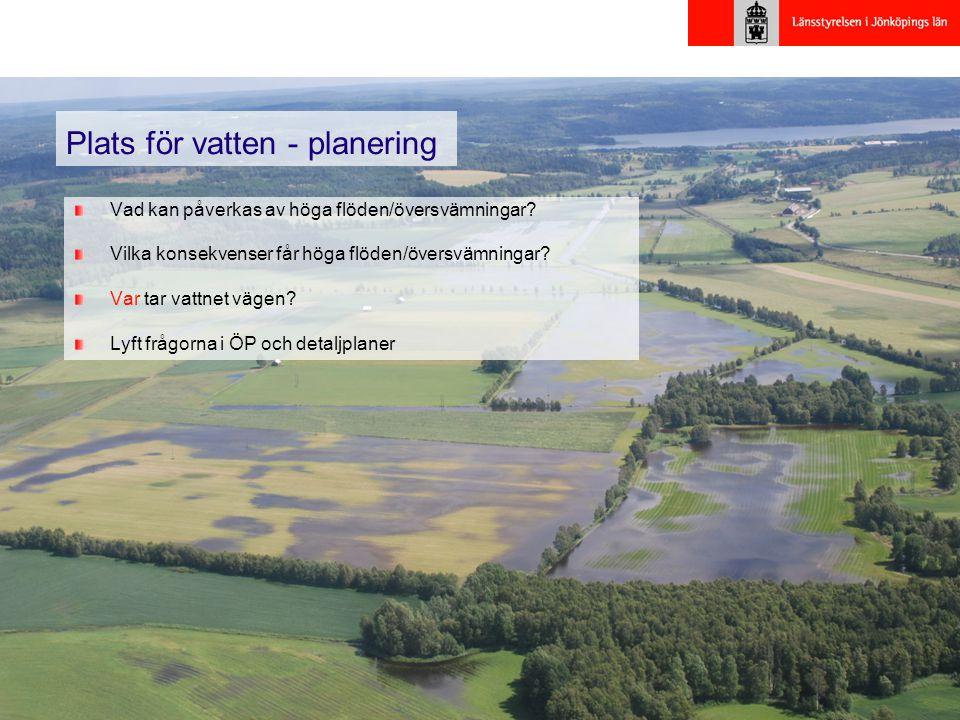 Plats för vatten - planering