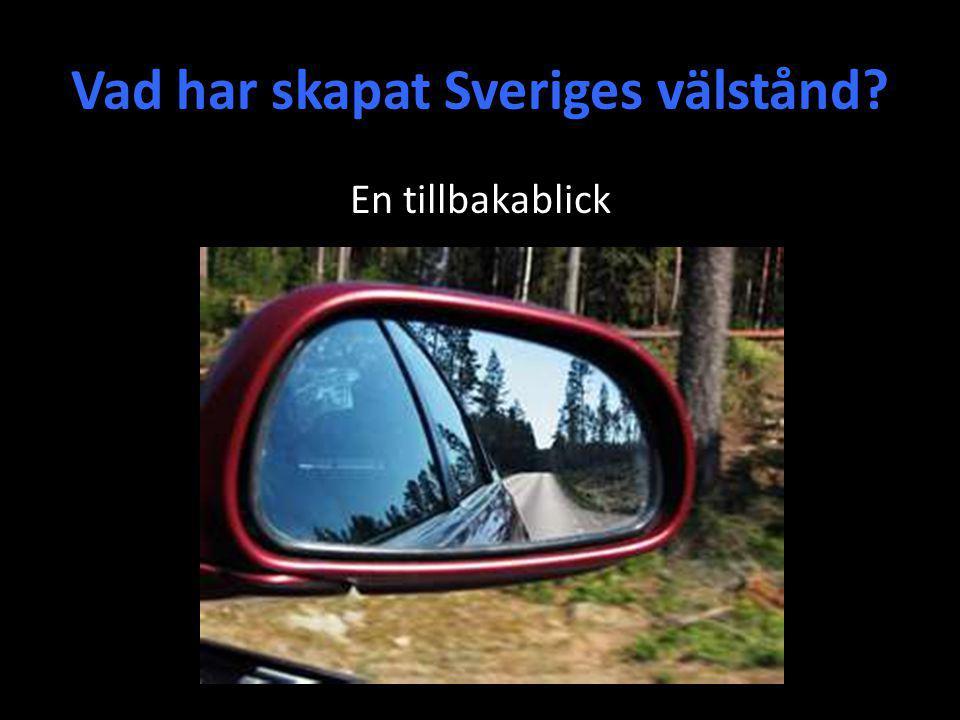 Vad har skapat Sveriges välstånd