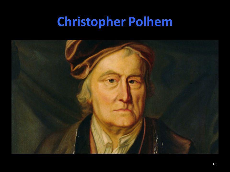 Christopher Polhem Sverige har en tradition av innovatörer och ingenjörer.