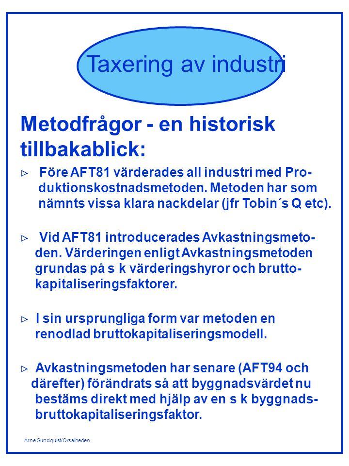 Metodfrågor - en historisk tillbakablick: