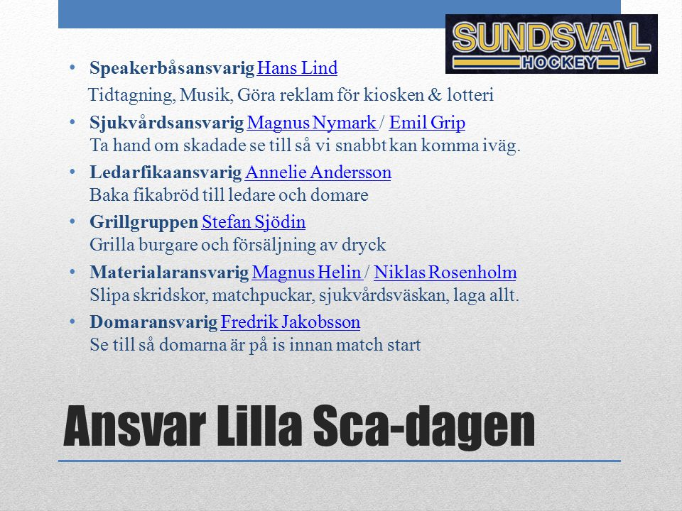 Ansvar Lilla Sca-dagen
