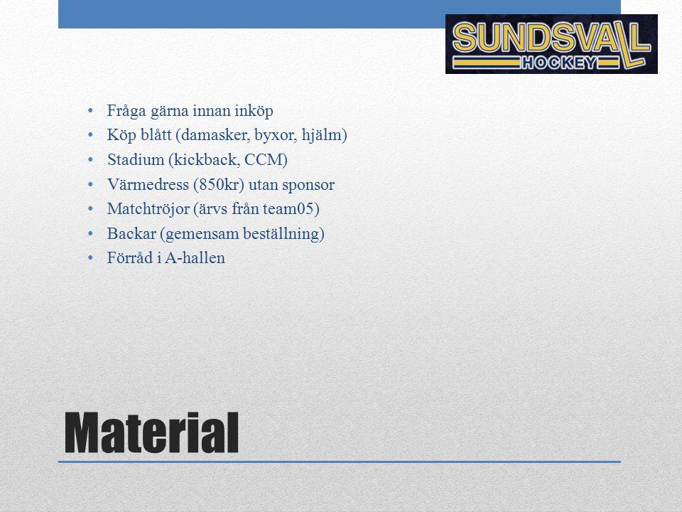 Material Fråga gärna innan inköp Köp blått (damasker, byxor, hjälm)