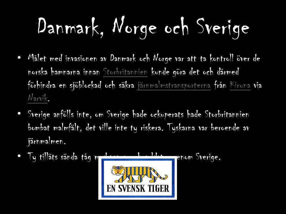 Danmark, Norge och Sverige
