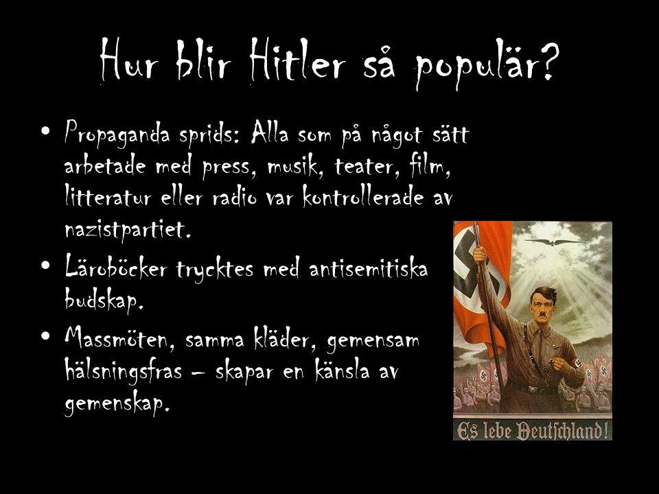 Hur blir Hitler så populär