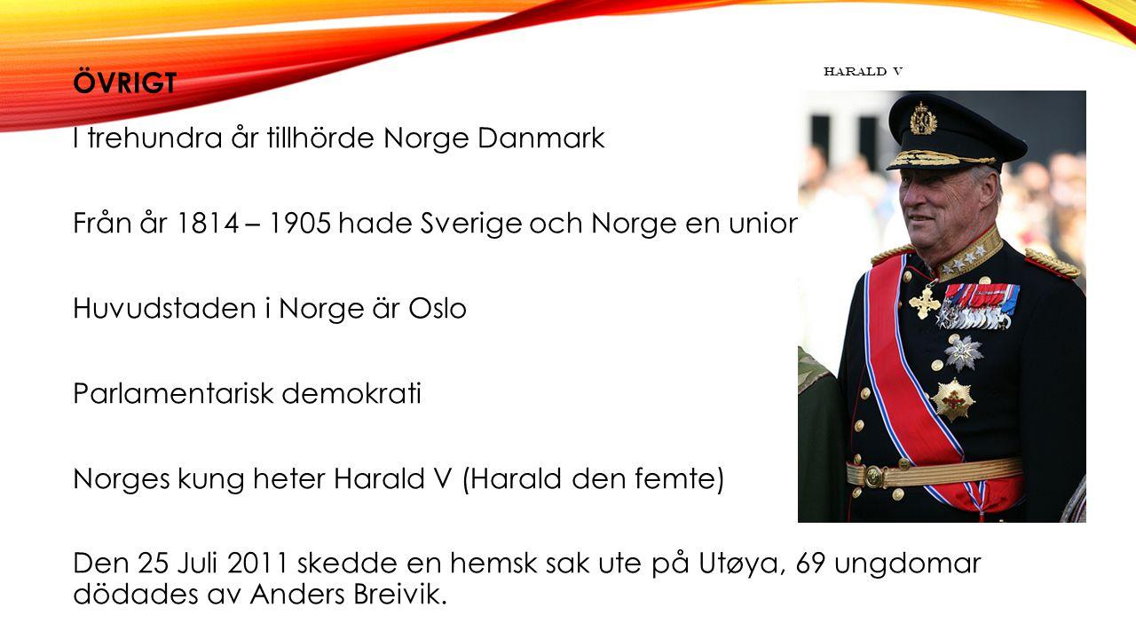 Övrigt Harald V.