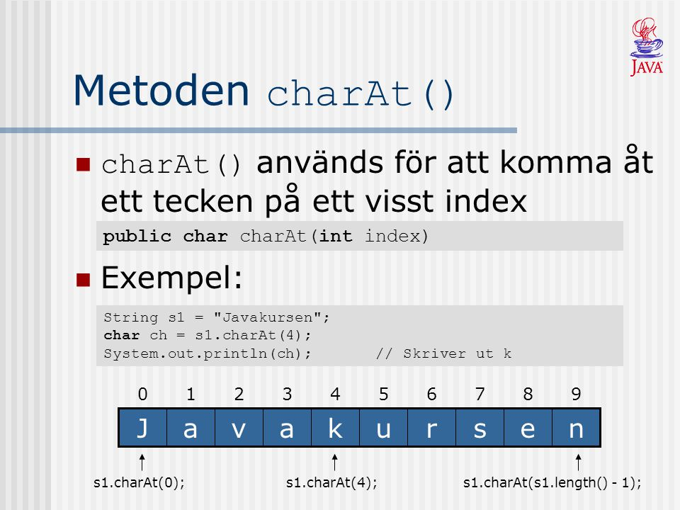 s1.charAt(s1.length() - 1);