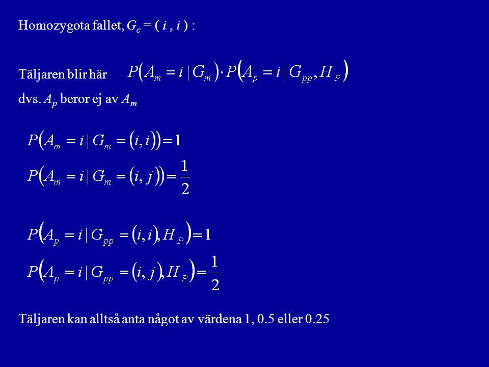 Homozygota fallet, Gc = ( i , i ) :