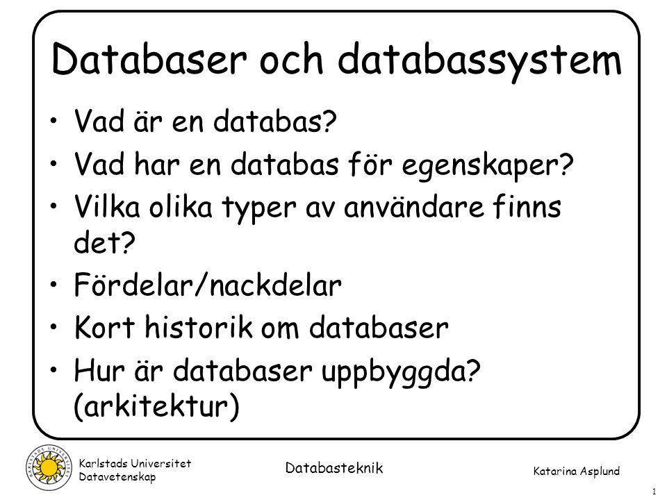 Databaser och databassystem