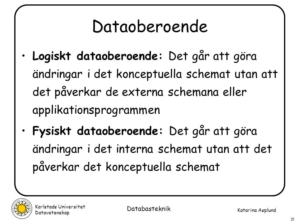 Dataoberoende
