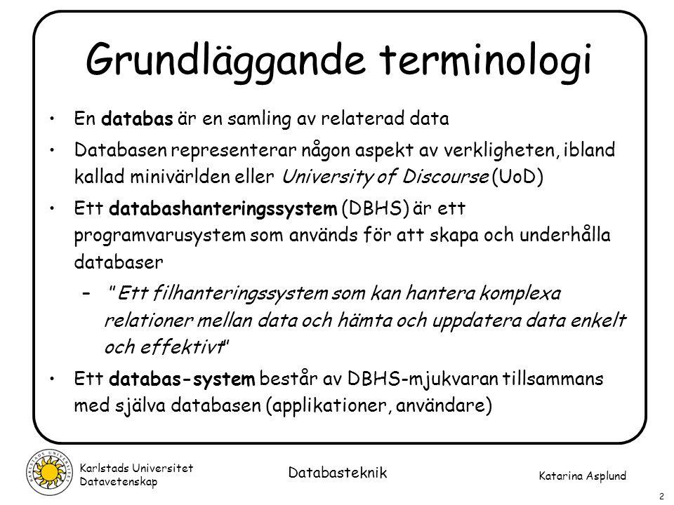 Grundläggande terminologi