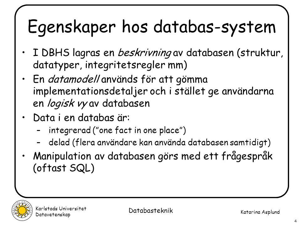 Egenskaper hos databas-system