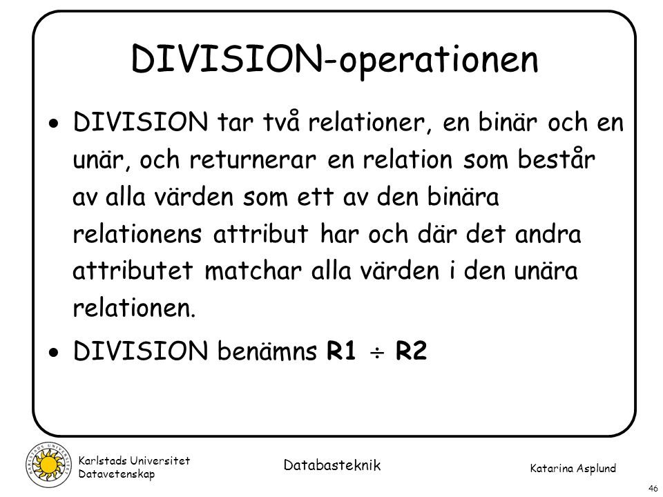DIVISION-operationen