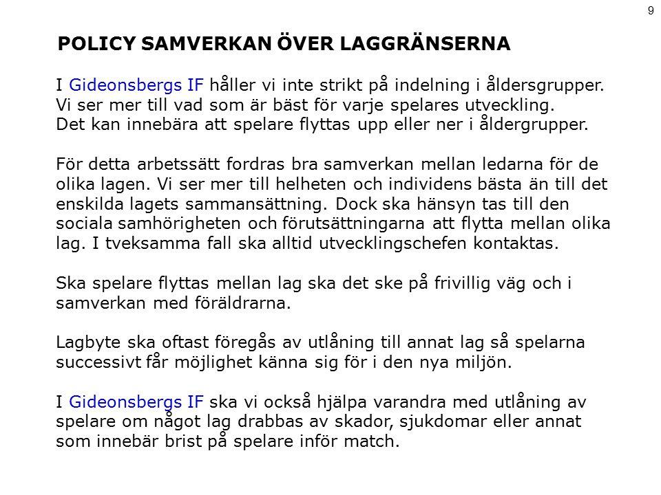POLICY SAMVERKAN ÖVER LAGGRÄNSERNA