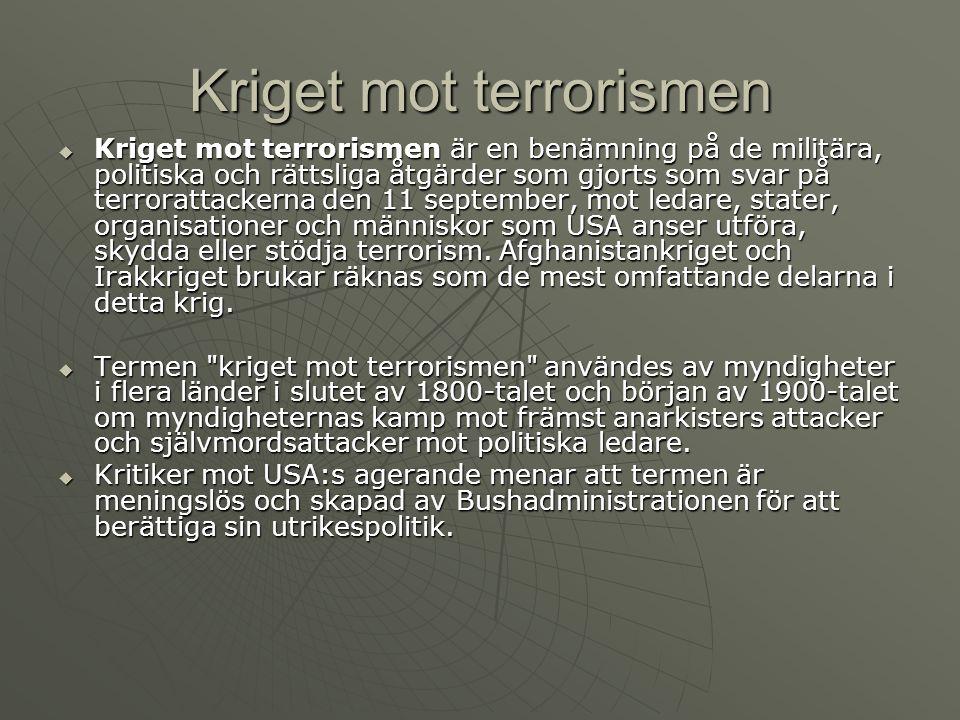 Kriget mot terrorismen