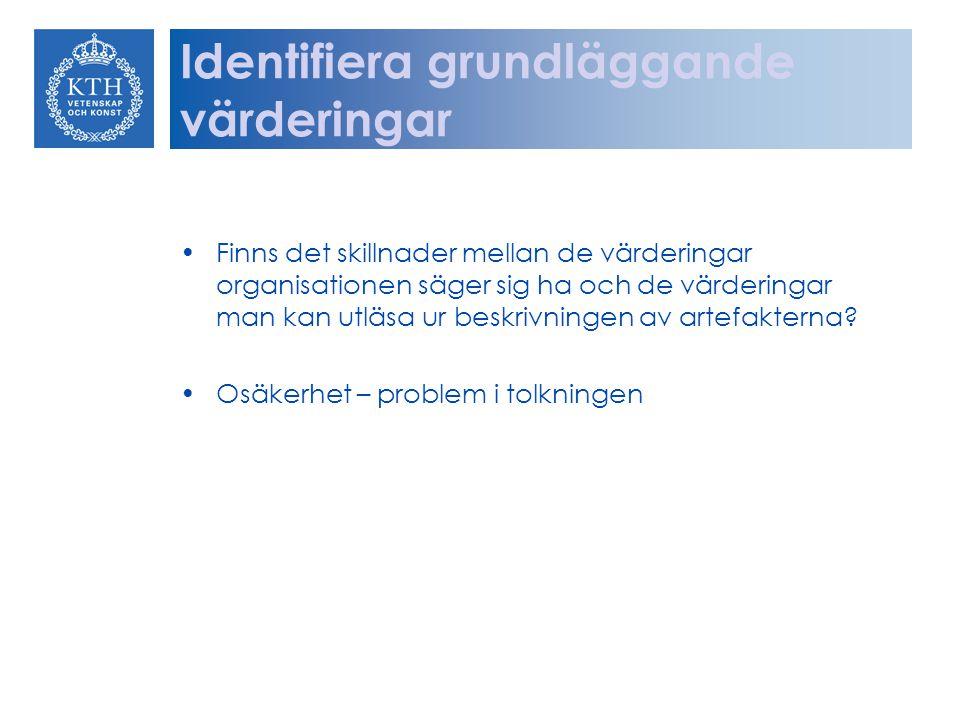Identifiera grundläggande värderingar
