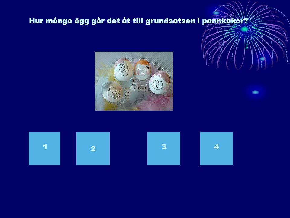 Hur många ägg går det åt till grundsatsen i pannkakor