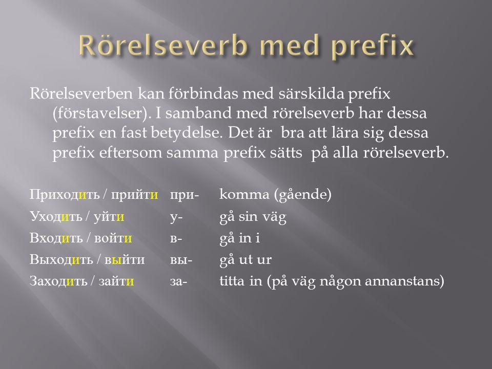 Rörelseverb med prefix